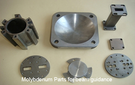 Molybdenum Parts for beam guidance